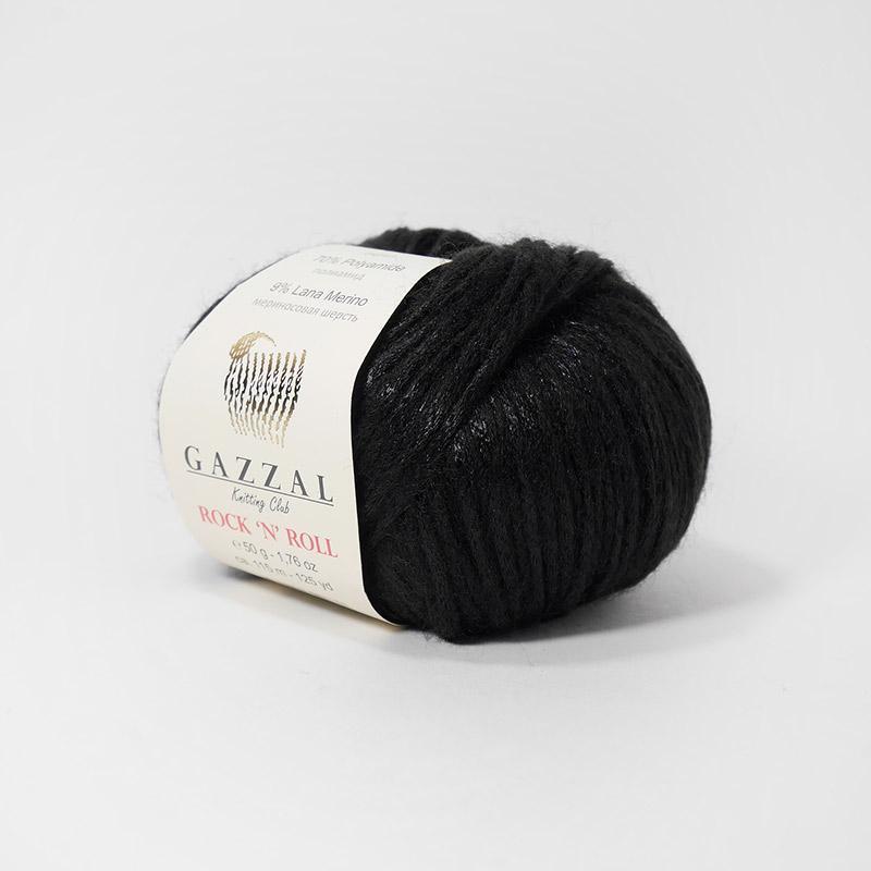 Пряжа Рок-н-ролл 4215 - черный