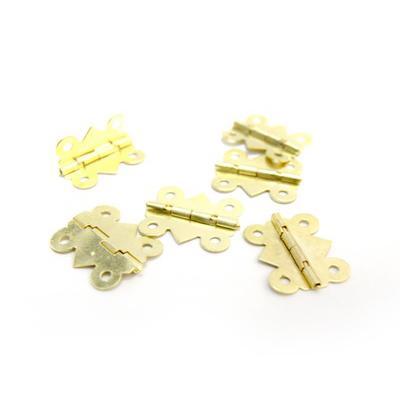 Декоративная петля для шкатулок FL-266 25х20мм 6шт золото 24027