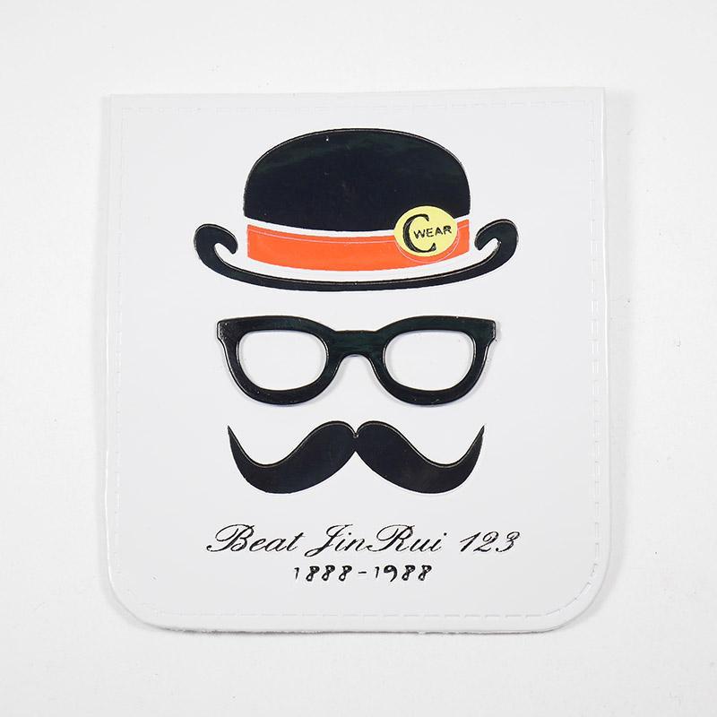 Лейба п/у C Wear Шляпа с усами очки металл. 70х77мм 35619