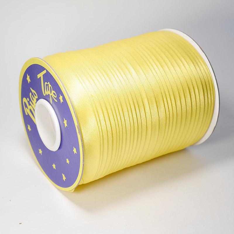 Косая бейка атлас. №23 15мм 120 ярд желтый