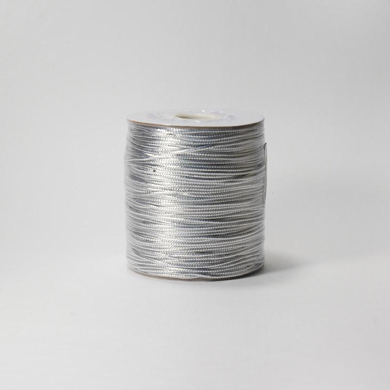 Шнур декоративный 1.5мм 100м серебро