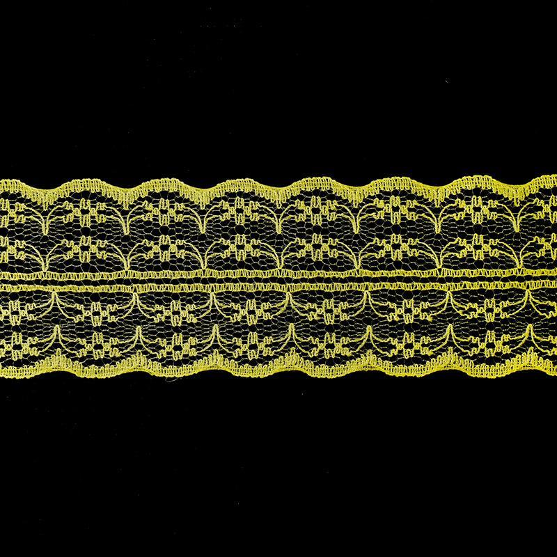 Кружево капрон 45мм/10м арт.133-2 желтый