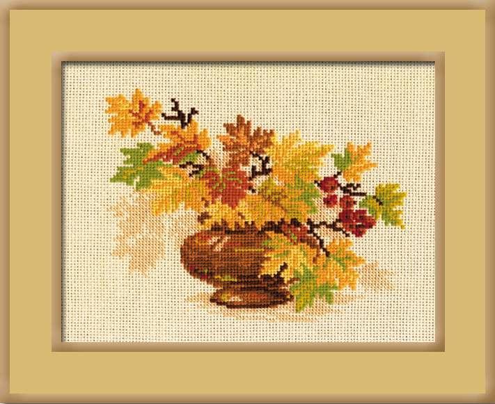 """Набор для вышивания-769 """"Осенний букет"""" 30х24см"""