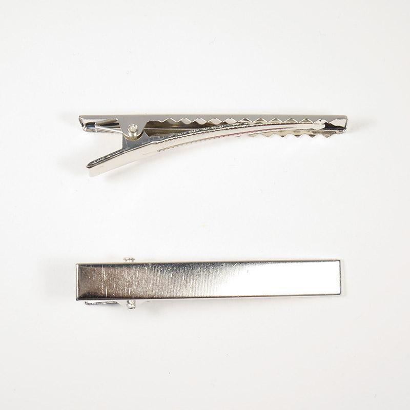 Зажим (заколка) 6см №1 серебро