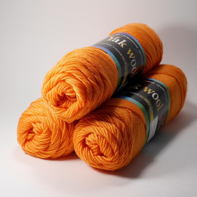 Пряжа Як Вул 207 - морковный