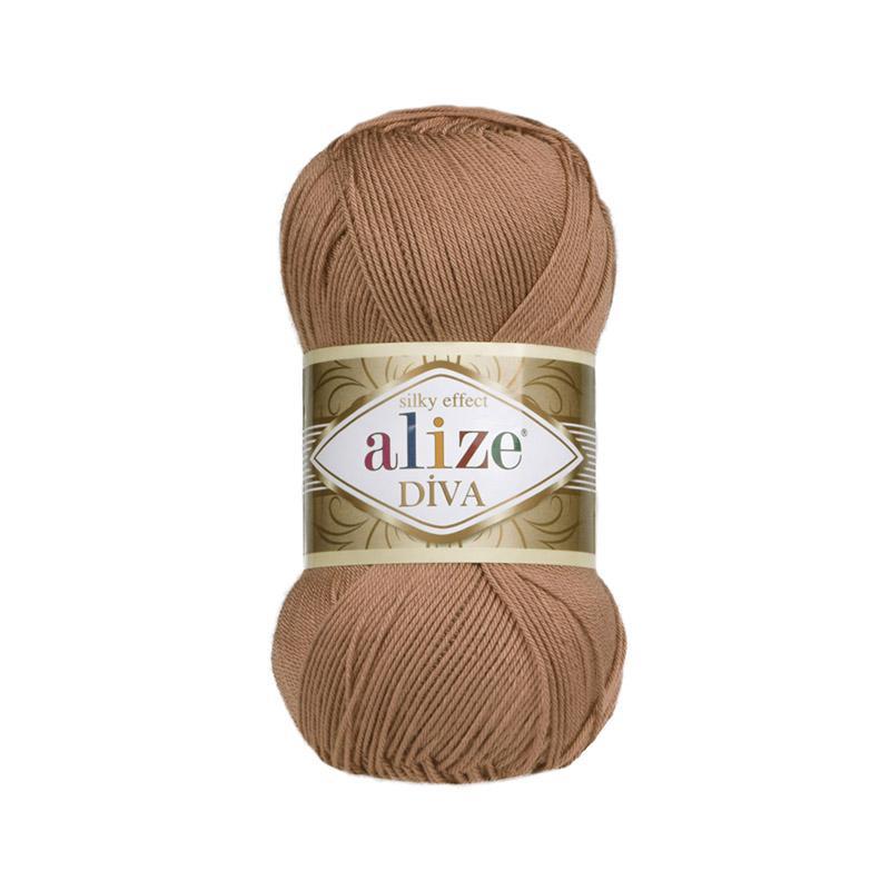 Ализе Дива 261 - красно-коричневый
