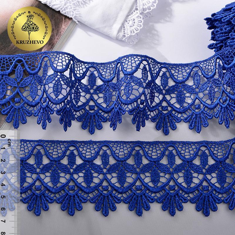 Кружево гипюр TR.8G8254 62мм 9м 09 синий