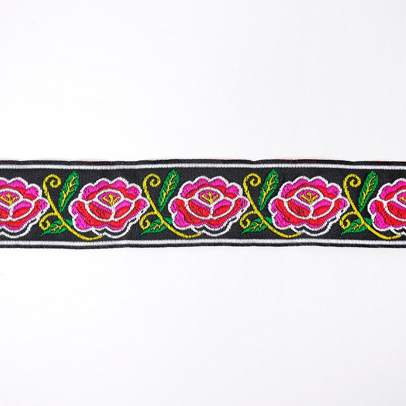 Тесьма жаккард 33мм 7м рис. 56 роза