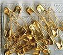 Булавки английские BLITZ №00 золото 500шт BZ-00