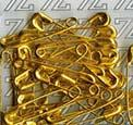 Булавки английские BLITZ №0 золото 500шт BZ-0