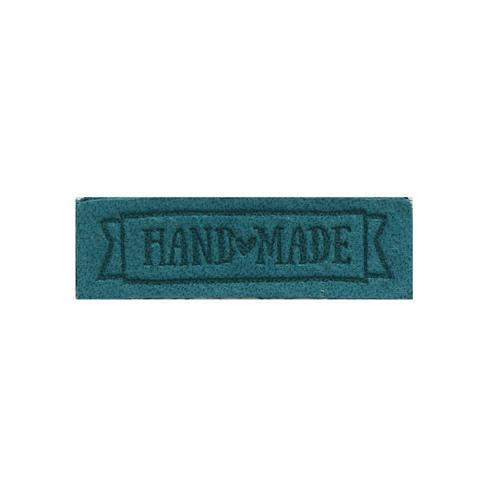 Термоаппликации Hand made 2,5х0,8см 2шт 100% кожа бирюзовый 552167