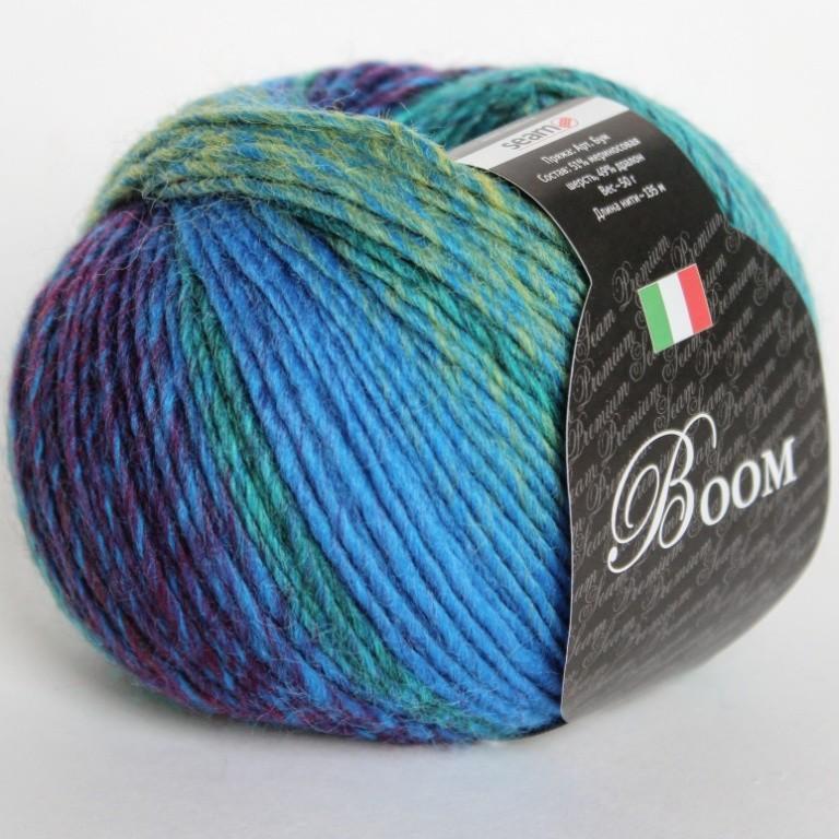 Пряжа Бум 64389 фиолетово-голубой
