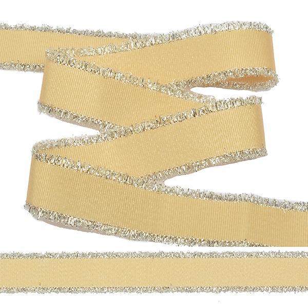 Тесьма с бахромой TBYF01 25мм 13.71м F117 желтый