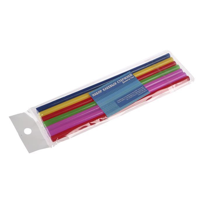 Клей д/клеевого пистолета разноцветный  7мм, 7шт 1746892