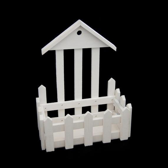 Деревянная заготовка забор с крышей 17х21,5х9см 22933