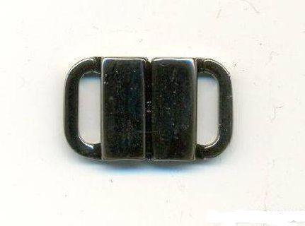 Застежка для купальника 10мм ч.никель 5702 ГР 528055