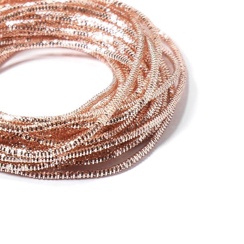 Канитель 0,7мм 4986EMBNK розовое золото трунцал 5гр