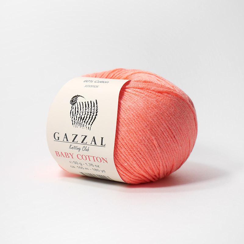 Пряжа Беби Коттон 3460 - розовый коралл