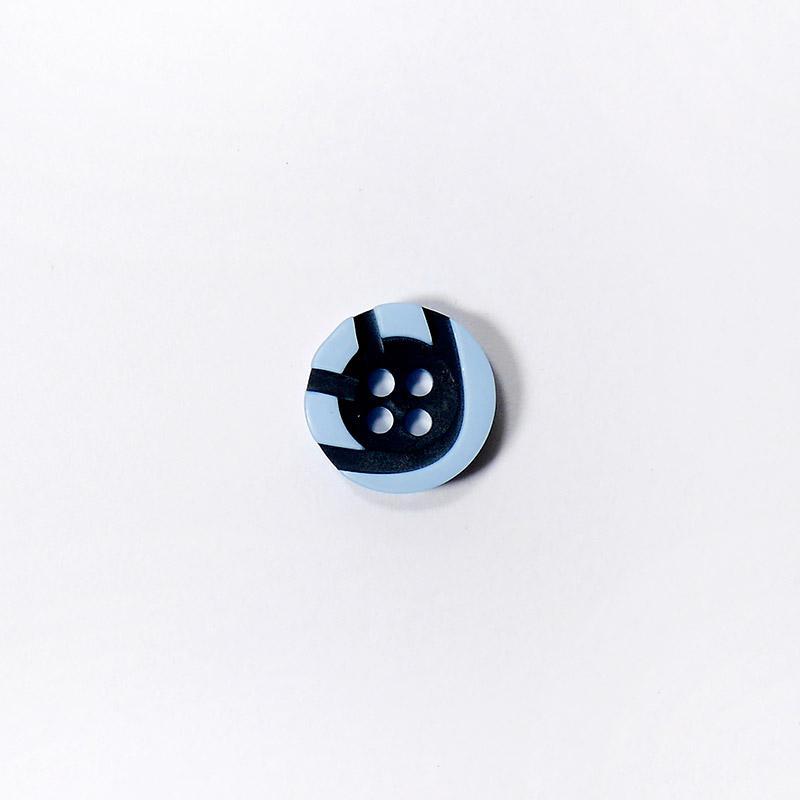 Пуговицы Рубашка 4-х пр. 13мм 432/4 голубой/черный