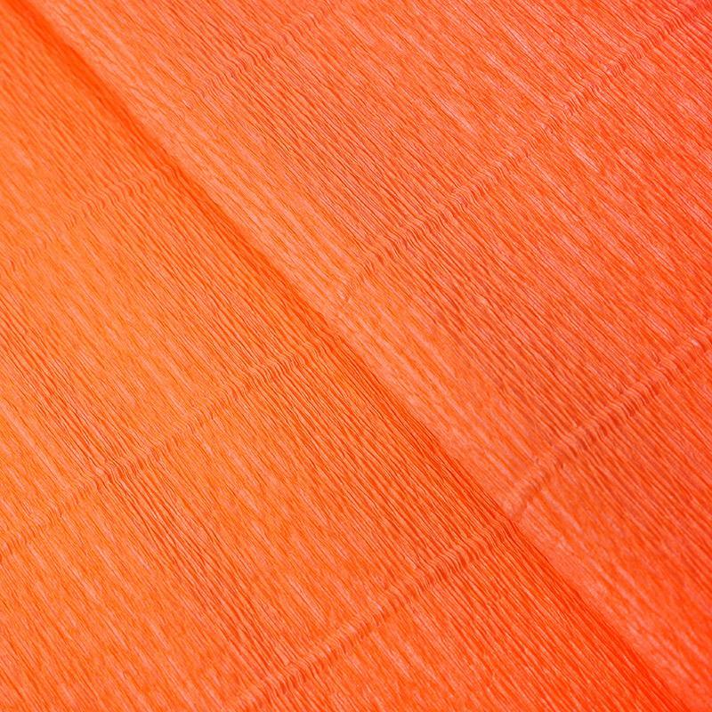 Бумага гофрированная 50см 2,5м 140г/м2 Италия 981 оранжевый