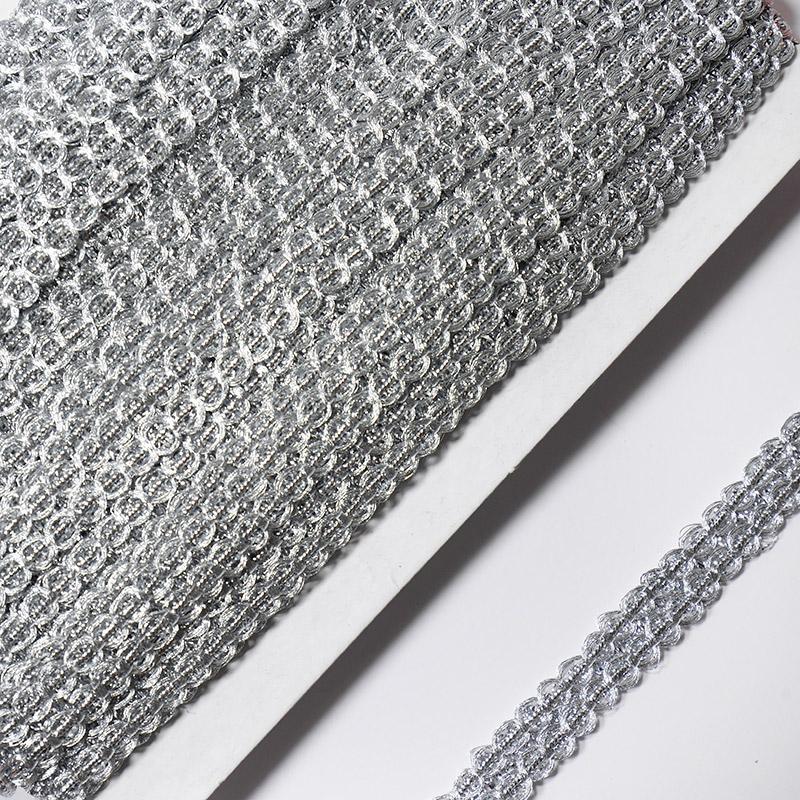 Тесьма 12мм 18.28м FX L021 серебро