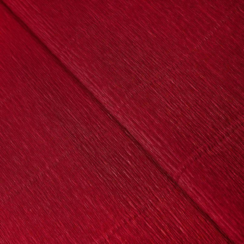 Бумага гофрированная 50см 2,5м 140г/м2 Италия 986 карминно-красный