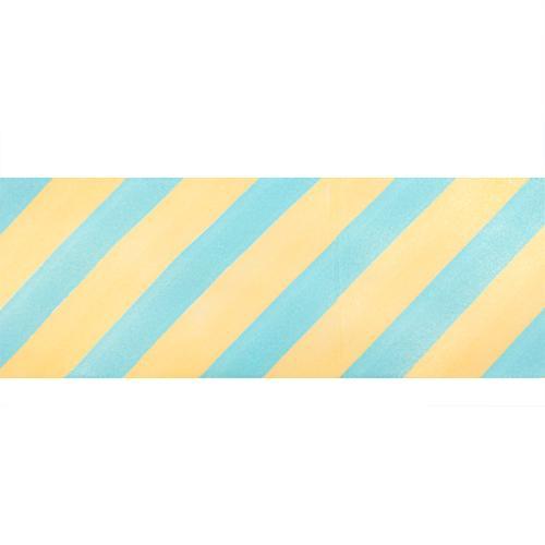 Лента атласная Диагональ 45мм 22,5м 7710539 жел-голубой
