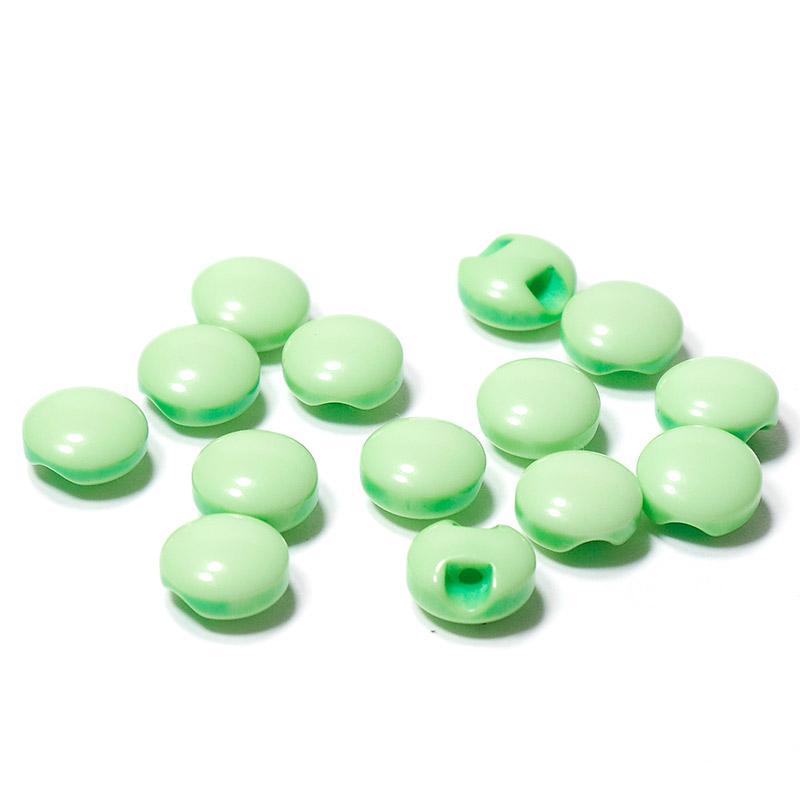 Пуговицы мини 10мм круглые пластик на ножке 14шт зеленый 27353