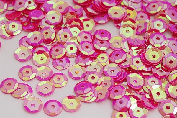 Пайетки TBY-FLK032 8мм 50гр 28 яр.розовый
