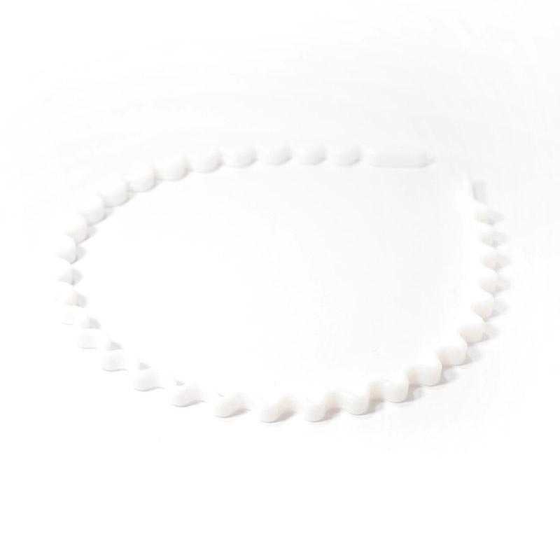 Ободок 0.5см пластик волнистый SF-3186 белый 307-191