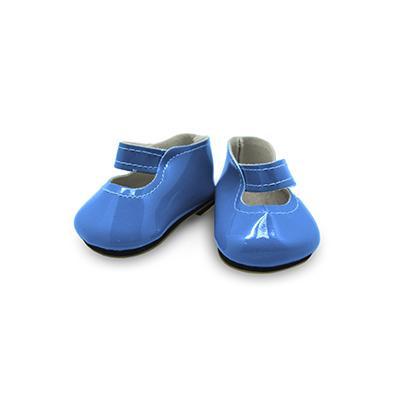 Туфли для игрушек лакированные 65х25мм синий 28338