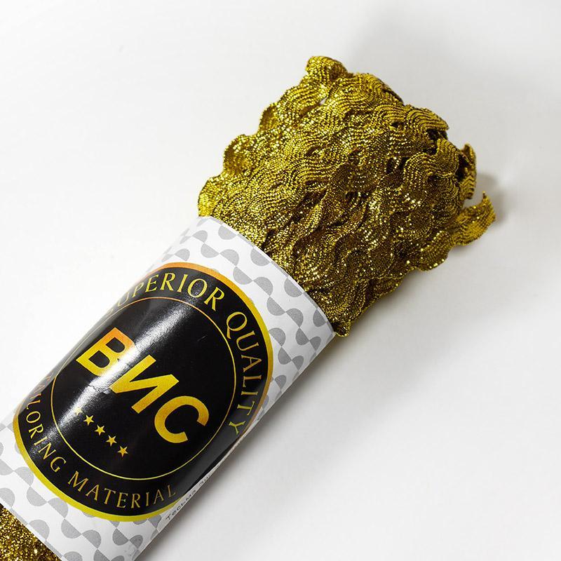 Тесьма Зиг-Заг 5мм 20м золото
