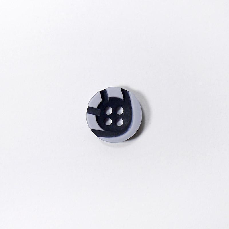 Пуговицы Рубашка 4-х пр. 13мм 432/4 серый/черный