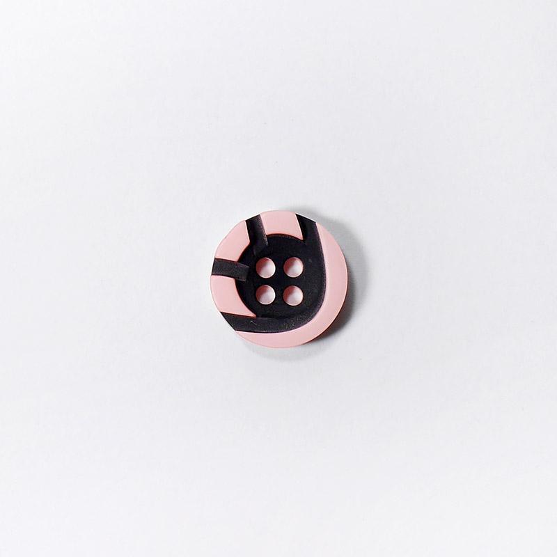 Пуговицы Рубашка 4-х пр. 13мм 432/4 розовый/черный
