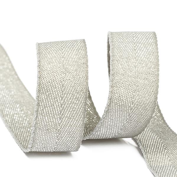 Тесьма киперная металлизированная TBYT07 16мм 22,85м S132 серый