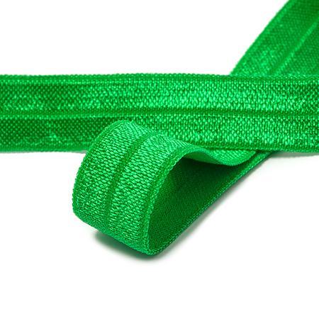 Резинка окантовочная блестящая 15мм 50м F243 зеленый