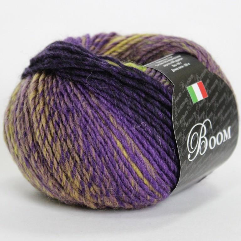 Пряжа Бум 35705  фиолетово-бежевый