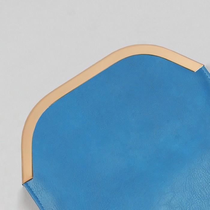 Декоративная окантовка для сумки металлическая 21,5х5,5см золото 3780131