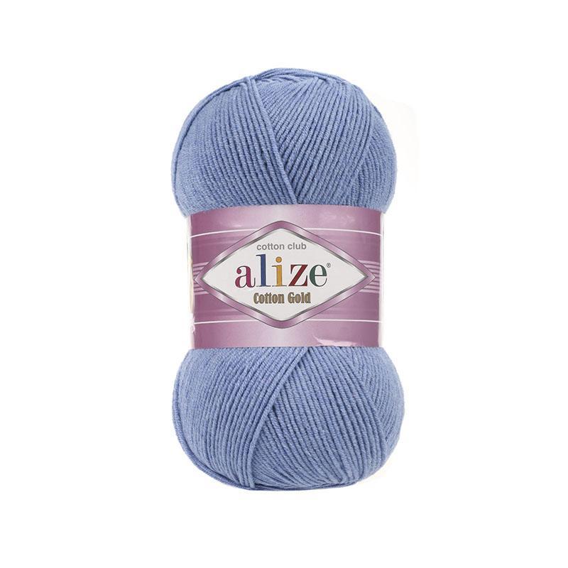 Коттон Голд 374 - голубой меланж