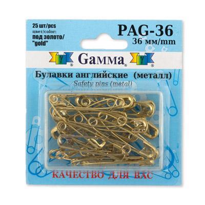 Булавки английские PAG-36 25шт золото