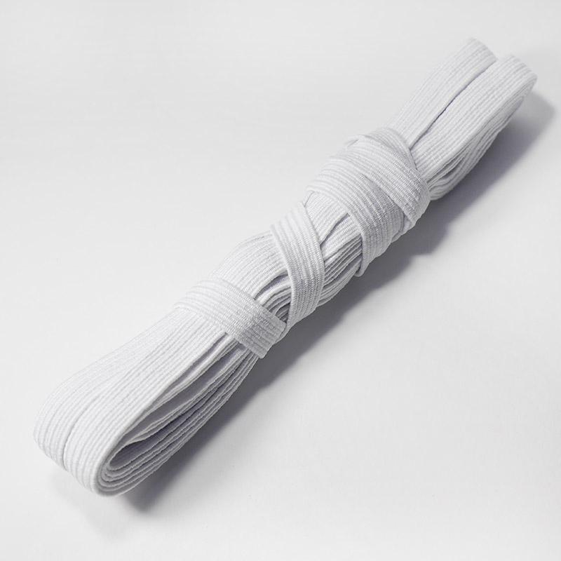 Тесьма эластичная 10мм 5м белая