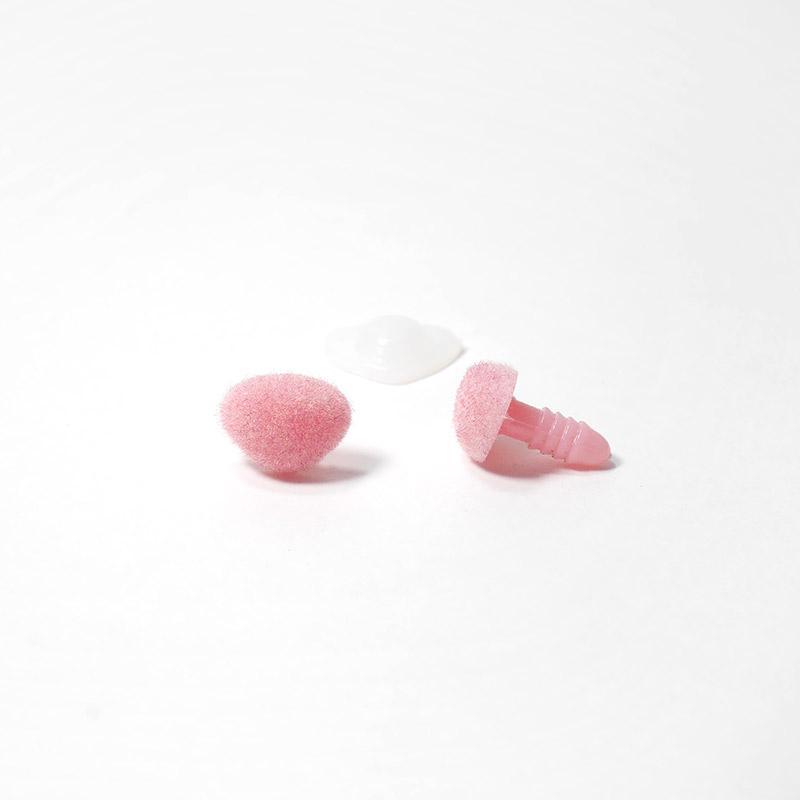 Носик винтовой бархатный 14х11мм треугольный розовый