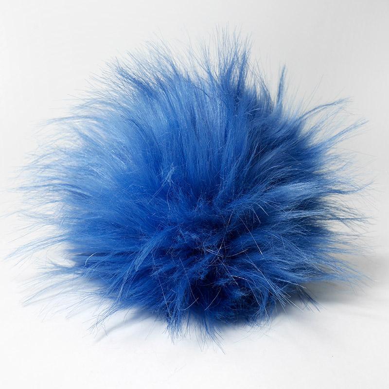 Помпон 13-15см синий №22 искус под енота