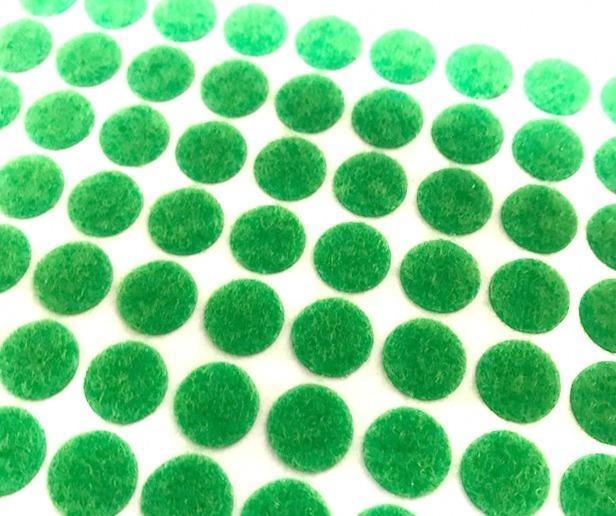 Лента контактная мини клеевая 10мм 10шт зеленый 28840