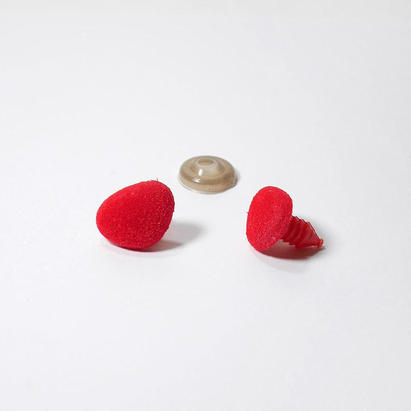 Носик винт.18х13мм КТ-1813 бархатный, треугольный, красный