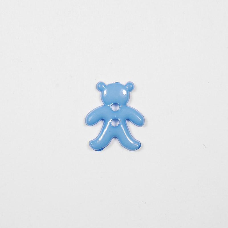 Пуговицы детские Мишка 15мм  2прок. Одеон голубой