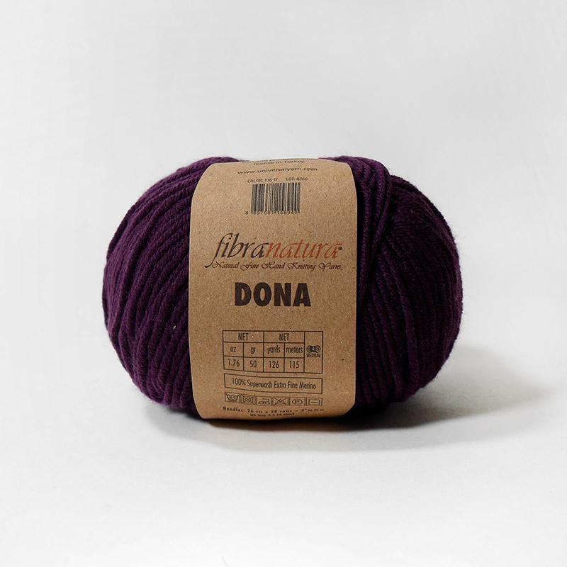 Пряжа Дона 106-17-фиолетовый