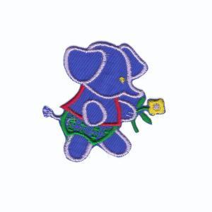 """Термонаклейка """"Слон с цветком"""" 13679 10шт 7,6х8,5см"""
