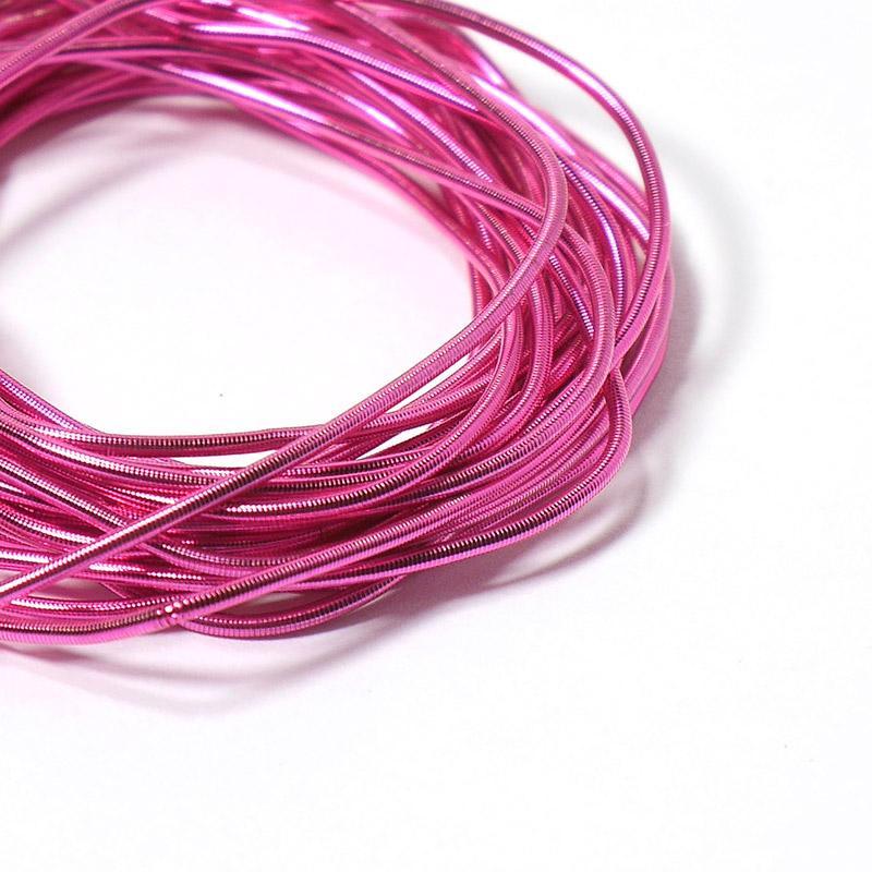 Канитель 1мм 05700ЕМВFW т.розовый 5гр