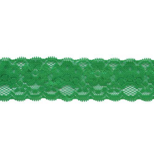 Кружево-стрейч  35мм 24ярд (21.94м) ДУ 7720166/9153 зеленый